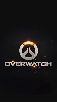 Overwatch Logo Simple Game Art Illustration Dark iPhone se wallpaper