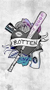 Harley Quinn Suicide Squad Logo Hero Art Illustration iPhone se wallpaper