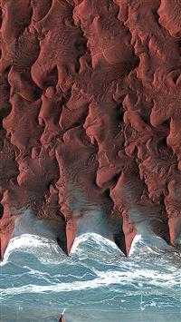 Namib Desert Red Earthview Pattern iPhone se wallpaper