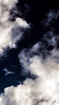 Cloud Dark Blue Sky Nature Summer iPhone 5(s/c)~se wallpaper