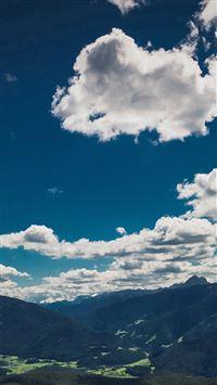 Nature Sky Cloud Mountain Green Summer iPhone se wallpaper
