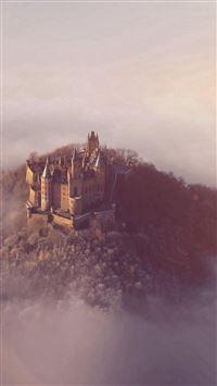 Castle Sky Cloud Dream Fantasy Art Nature Flare iPhone se wallpaper