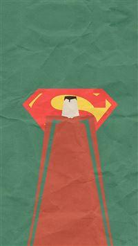 Superman Minimal Art Illustration Art iPhone se wallpaper
