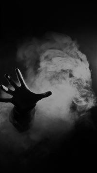 Hand From Smoke Black iPhone se wallpaper