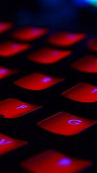 Dark Red Keyboard Coding iPhone se wallpaper
