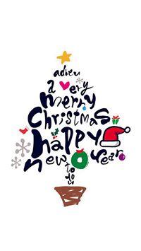 Tree Holiday Christmas Illustration Art iPhone se wallpaper