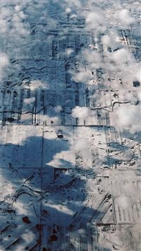 Earth View Sky Land Cloud Snow Fly iPhone se wallpaper