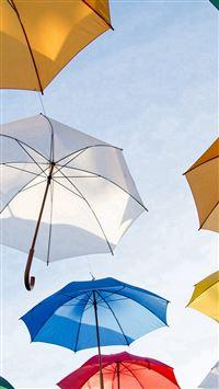 Umbrella Rainbow Color Art iPhone se wallpaper