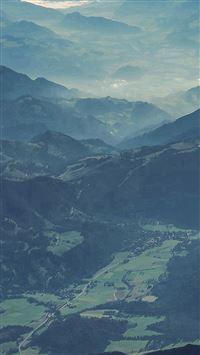 Mountain Nature Blue Green Summer Earth iPhone se wallpaper