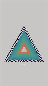 Tycho Triangle Abstract Art Illustration White iPhone se wallpaper