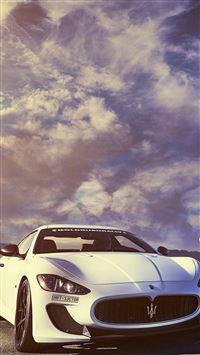 Splendid Maserati Sports Car Sky View iPhone se wallpaper