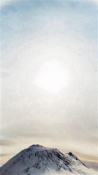 Mountain Wonderful Snow Winter Halo Sky White iPhone se wallpaper