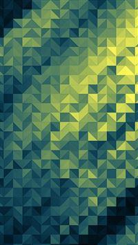 Polygon Dark Triangle Background Green Pattern iPhone se wallpaper