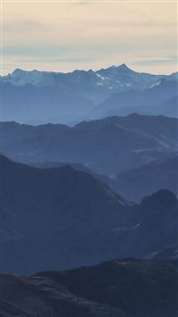 Morning Mountain Fog Blue Sky Nature iPhone se wallpaper