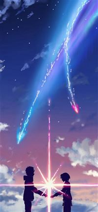 Your Name Movie Film Poster Bright Sparkle iPhone se wallpaper