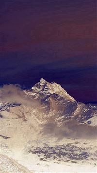 Cold Mountain Snow Nomore Nature Cloud Blue iPhone se wallpaper