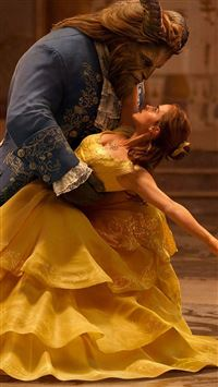 Beauty And The Beast Emma Watson Dancing With Prince iPhone se wallpaper