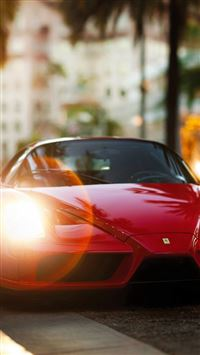 Ferrari Enzo Red Side View iPhone se wallpaper