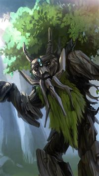 Dota 2 Treant Protector Trees Art iPhone se wallpaper