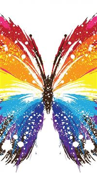 Butterfly Abstract Colorful Patterns iPhone 5(s/c)~se wallpaper