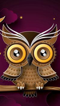 Owl Bird Art Branch iPhone se wallpaper