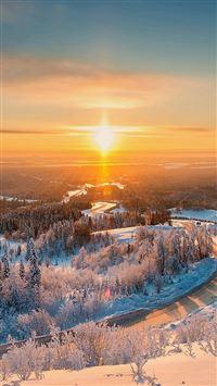 Belogorie Ural Winter Light Landscape iPhone se wallpaper