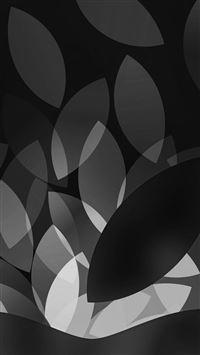 Apple Bw Dark Logo Illustration Art iPhone se wallpaper