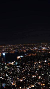 Dark Night City Building Skyview iPhone se wallpaper