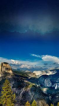 Yosemite Mountain Wood Summer Nature iPhone se wallpaper