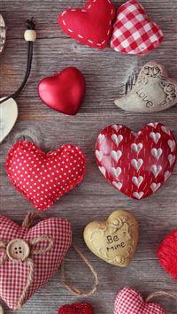 Cloth Carving Heart Many Hearts iPhone se wallpaper