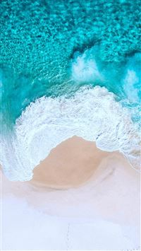 Nature Pure Crystal Ocean Wave Splash Beach iPhone se wallpaper