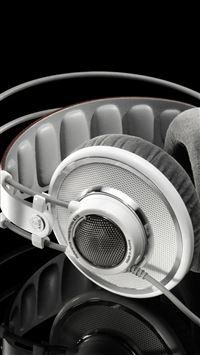 Headphones Black And White iPhone se wallpaper