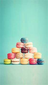 Macarons French Cake Pyramid iPhone se wallpaper