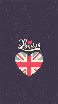 Love London Heart Flag iPhone se wallpaper