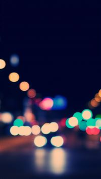 Bokeh City Street Lights iPhone se wallpaper