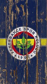 Fenerbahce Football Club Wood Logo iPhone se wallpaper