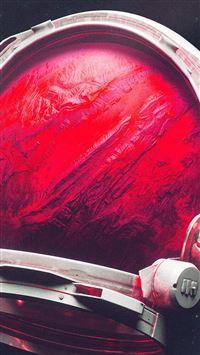 Space Digital Mars Illustration Art Red iPhone se wallpaper