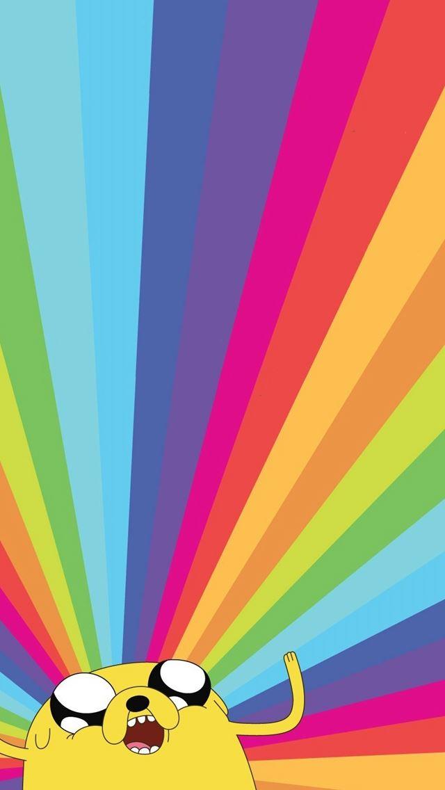 Jake The Dog Adventure Time Rainbow IPhone Se Wallpaper