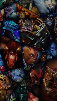 DOTA Game Characters  iPhone se wallpaper