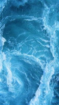 Swirling Blue Ocean Waves  iPhone se wallpaper