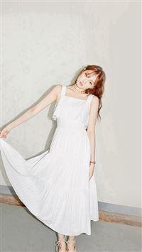 Dress Girl Model White Kpop iPhone se wallpaper