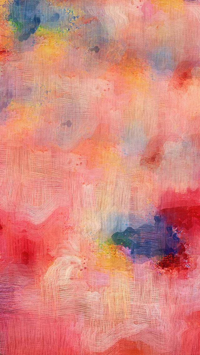 Samsung Galaxy Pink Texture Art Oil Painting Pattern IPhone Se Wallpaper