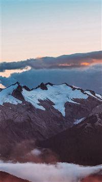 Mountain Sunset Sky Cloud Nature iPhone se wallpaper