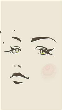 Girl Face Illust Art Minimal iPhone se wallpaper
