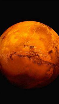 Mars Planet Full View iPhone se wallpaper