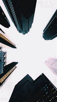Skyscrapers Up View Dark iPhone se wallpaper