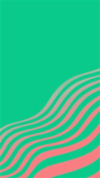 Line Simple Minimal Curve Pattern Green iPhone se wallpaper