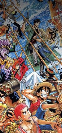 One Piece All The Fun Comics Illust iPhone se wallpaper