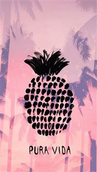 Pura Vida Pineapple Summer iPhone se wallpaper