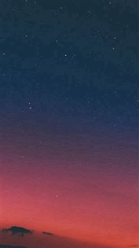 Night Sky Sunset Pink Nature iPhone se wallpaper